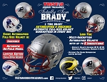 TRISTAR Hidden Treasures: Totally Tom Brady Autographed & Inscribed Authentic Full-Size Helmets