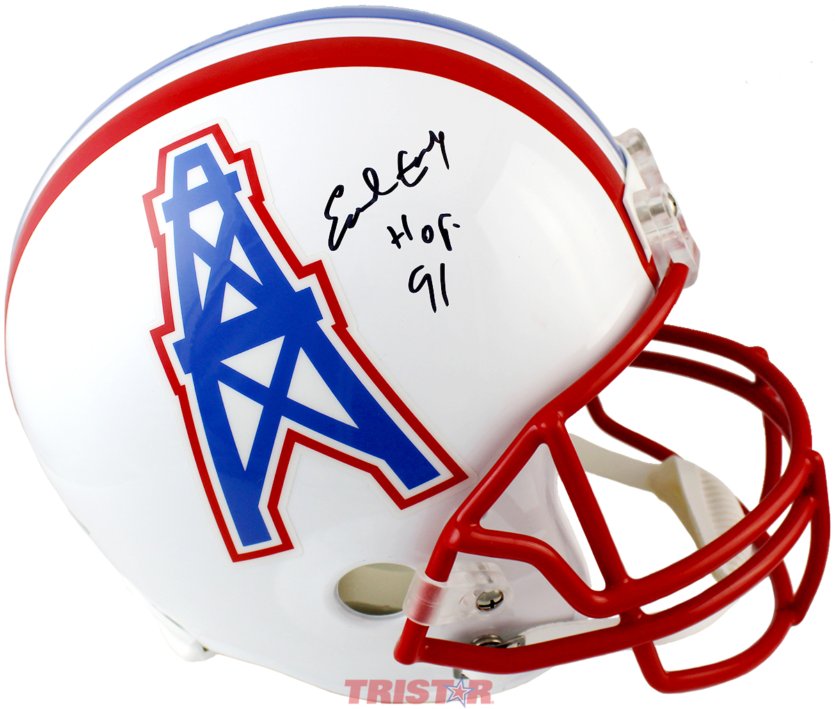 size 40 235ff 2f62f Earl Campbell Autographed Houston Oilers Authentic Helmet Inscribed HOF 91