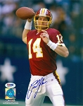 Brad Johnson Autographed Washington Redskins 8x10 Photo