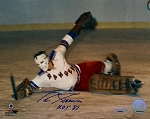 Eddie Giacomin Autographed New York Rangers 8x10 Photo Inscribed HOF 87