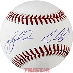 Jeff Bagwell & Craig Biggio Autographed Official ML Baseball