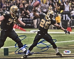 Reggie Bush Autographed New Orleans Saints Touchdown 8x10 Photo