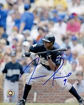 Juan Pierre Autographed Florida Marlins 8x10 Photo