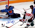 Zach Parise Autographed New Jersey Devils Scoring 8x10 Photo