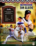 Tom Glavine Autographed HOF Celebration Collage 16x20 Photo Inscribed HOF 2014