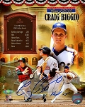 Craig Biggio Autographed Official Hall of Fame 8x10 Photo Collage Inscribed HOF 15
