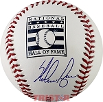 Nolan Ryan Autographed Hall of Fame Logo Baseball