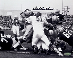 Dick Butkus Autographed Chicago Bears vs Packers 8x10 Photo