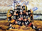 1962 Packers Offense Autographed 18x24 Photo with Starr, Taylor & 8 More
