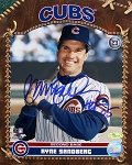 Ryne Sandberg Autographed Chicago Cubs Portrait 8x10 Photo Inscribed HOF 05