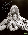 Cindy Morgan Autoraphed TRON 8x10 B&W Photo Inscribed Yori