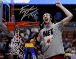 Frank Kaminsky Autographed Wisconsin Badgers Cutting Down Net 8x10 Photo