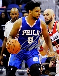 Jahlil Okafor Autographed Philadelphia 76ers vs Wizards 8x10 Photo