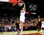 Frank Kaminsky Autographed Wisconsin Badgers Two Hand Dunk 16x20 Photo
