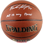Frank Kaminsky Autographed Spalding I/O NBA Basketball Inscribed MJ is My Boss