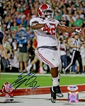 Eddie Lacy Autographed Alabama Crimson Tide TD Celebration 8x10 Photo