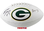 Eddie Lacy Autograhed Green Bay Packers Logo Football Inscribed ROY 13