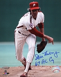 Jim Lonborg Autographed Philadelphia Philles 8x10 Photo Inscribed 67 AL Cy