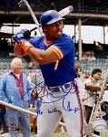 Kevin Mitchell Autographed New York Mets 8x10 Photo Inscribed 86 WS Champs