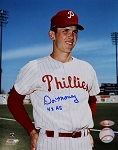 Don Money Autographed Philadelphia Phillies 8x10 Photo Inscribed 4x AS