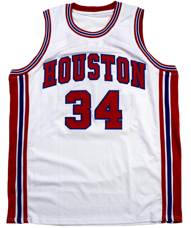 647869667 Hakeem Olajuwon Autographed Akeem Houston Cougars Custom Jersey