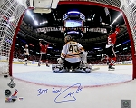 Andrew Shaw Autographed Blackhawks 2013 Stanley Cup 16x20 Photo Inscribed 3OT Goal