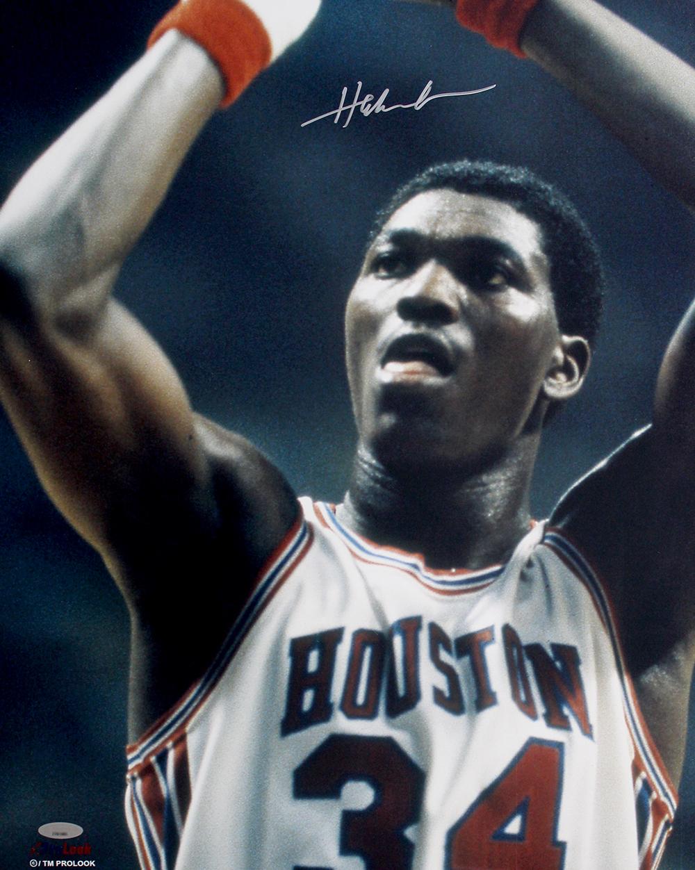 Hakeem Olajuwon Autographed Houston Cougars 16x20 Photo 3bb918e93