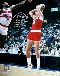 Rick Barry Autographed Houston Rockets 16x20 Photo ROY, AS, HOF
