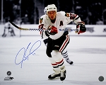 Jeremy Roenick Autographed Chicago Blackhawks Spotlight 16x20 Photo