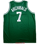 Nate Archibald Autographed Celtics Custom Jersey Inscribed HOF, Top 50