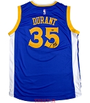 Kevin Durant Autographed Warriors Blue Swingman Jersey