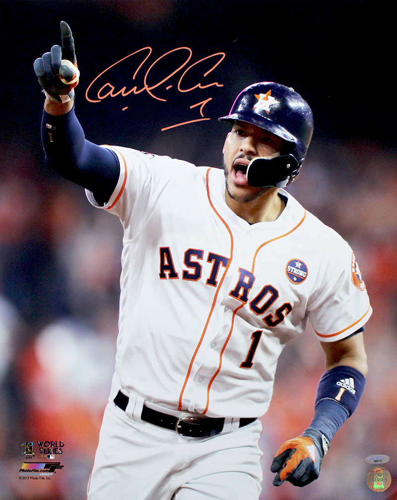 new styles 9f10d 7277d Carlos Correa Autographed 2017 World Series 16x20 Photo
