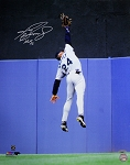 Ken Griffey Jr. Autographed Seattle Mariners Catch 16x20 Photo Inscribed HOF 16