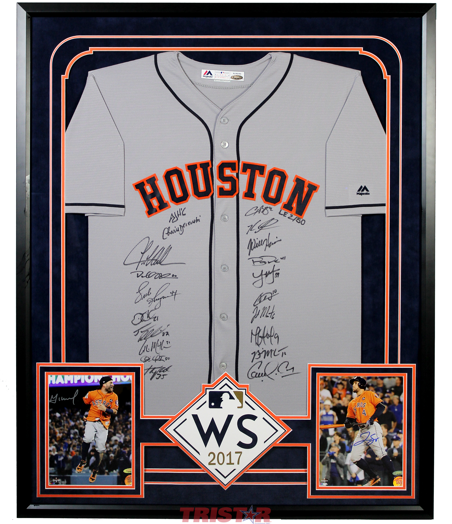 a31584bff Houston Astros Team Autographed Replica Jersey & 8x10 Photos with ...