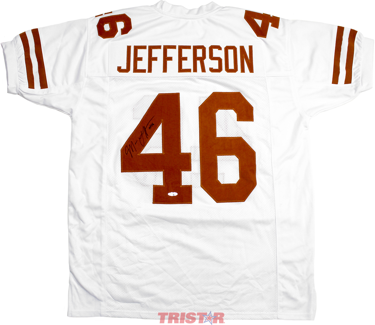 the latest a432a 83e79 Malik Jefferson Autographed Texas Longhorns Custom White Jersey