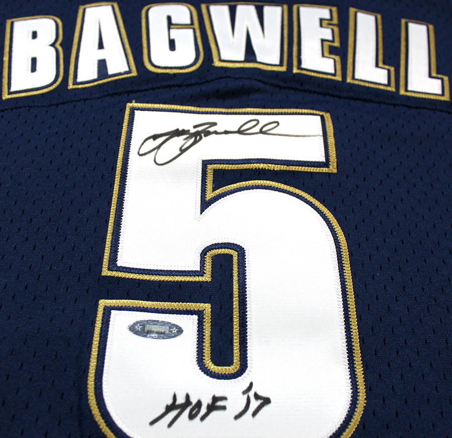 08f8e36f1 Jeff Bagwell Autographed Houston Astros M&N 1994 Throwback Navy ...