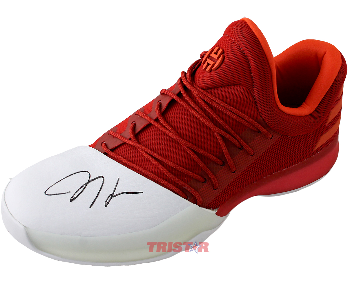 James Harden Autographed Adidas Vol 1 Red Signature Shoe