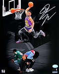 Donovan Mitchell Autographed Utah Jazz Slam Dunk Contest 8x10 Photo
