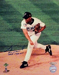 Livan Hernandez Autographed Florida Marlins 8x10 Photo Inscribed MVP 1997 WS