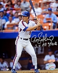 Gregg Jefferies Autographed New York Mets 8x10 Photo Inscribed 2x All Star