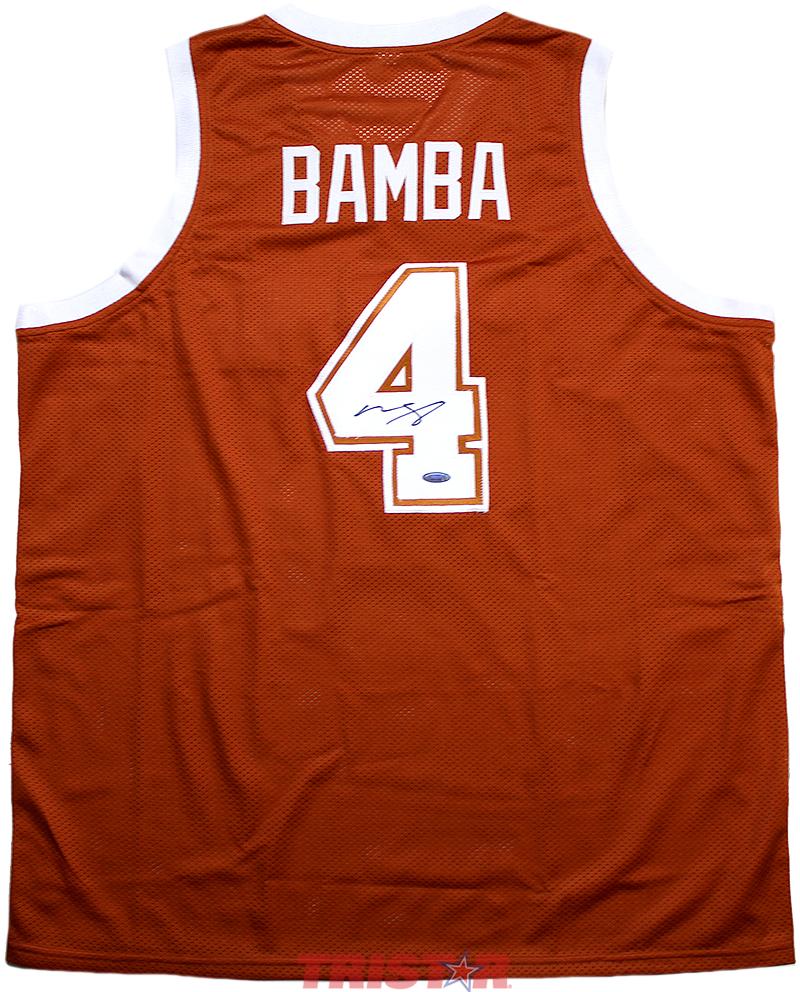 brand new 25f31 b6c57 Mo Bamba Autographed Texas Longhorns Custom Jersey