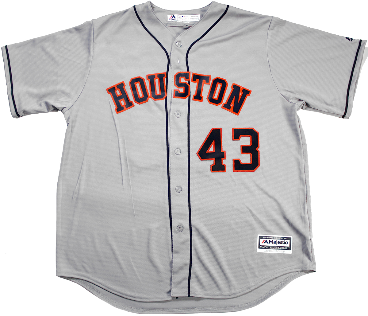 size 40 c1214 4d480 Lance McCullers Jr. Autographed Houston Astros Gray Jersey