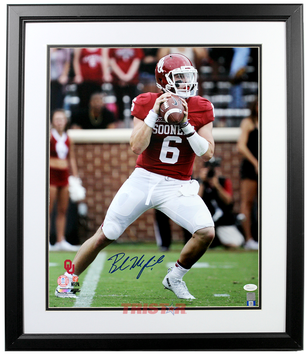 Baker Mayfield Autographed Oklahoma Sooners 16x20 Photo Framed 2d0c4f470