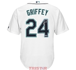 Ken Griffey Jr. Autographed Seattle Mariners White Majestic Jersey