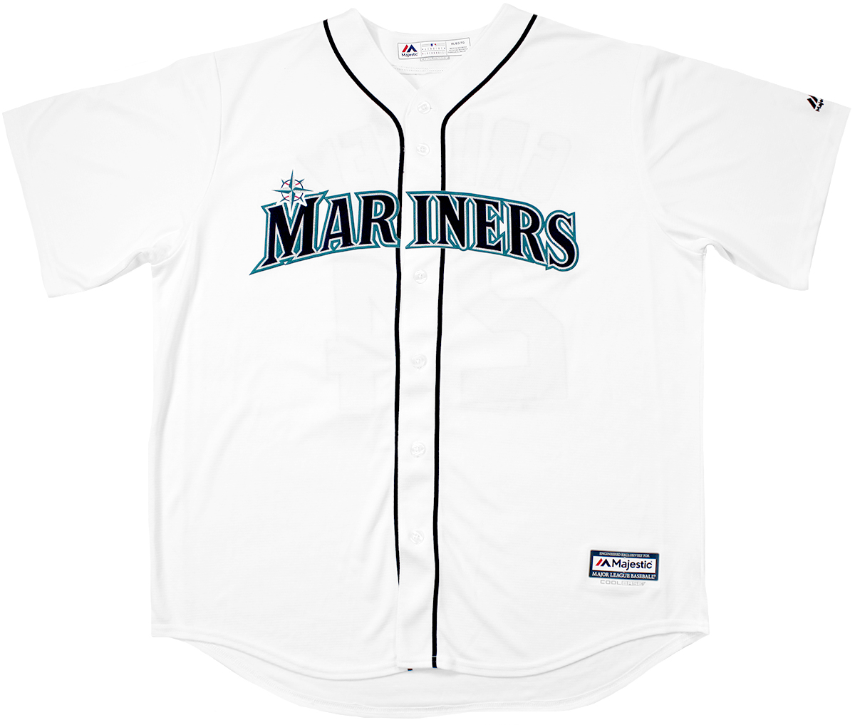 2186bb08430 Ken Griffey Jr. Autographed Seattle Mariners White Majestic Jersey ...