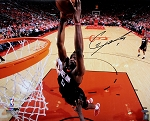 Clint Capela Autographed Houston Rockets Dunk Close-up 16x20 Photo