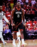 Clint Capela Autographed Houston Rockets Screaming 16x20 Photo