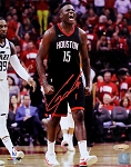 Clint Capela Autographed Houston Rockets Screaming 8x10 Photo
