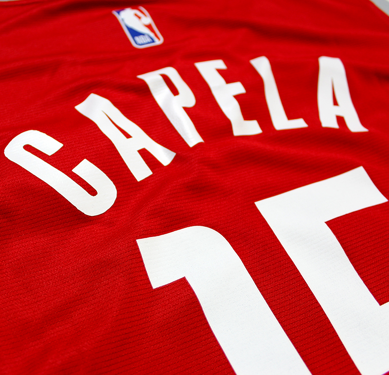 001898f23aa5 Clint Capela Autographed Houston Rockets Red Replica Jersey