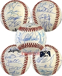 2014 AFL West All-Star Team Autographed Baseball - Lindor, Seager & 18 More